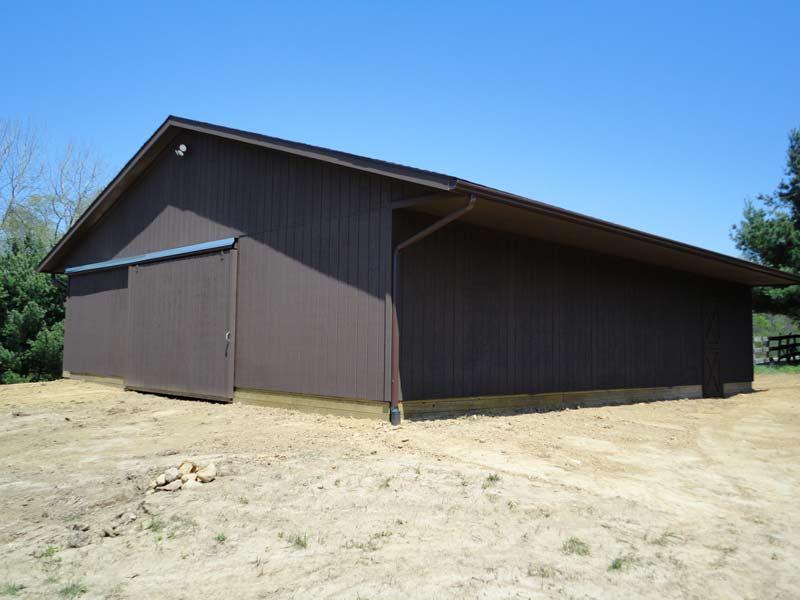 Pole barns scott steepleton construction for Large pole barn
